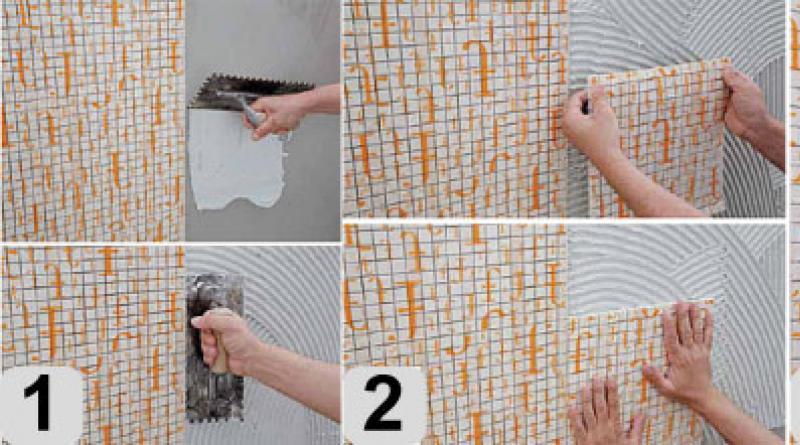 Укладка мозаики своими руками на стены в кухне: мастер-класс