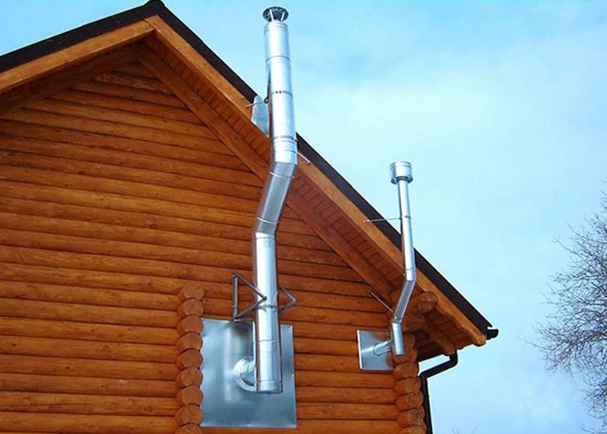 Какую высоту трубы дымохода делать над крышей
