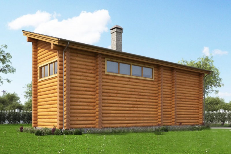 Бани с односкатной крышей: фото и как построить односкатную крышу
