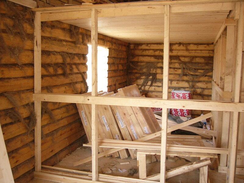 Как сделать кирпичную перегородку в деревянной бане