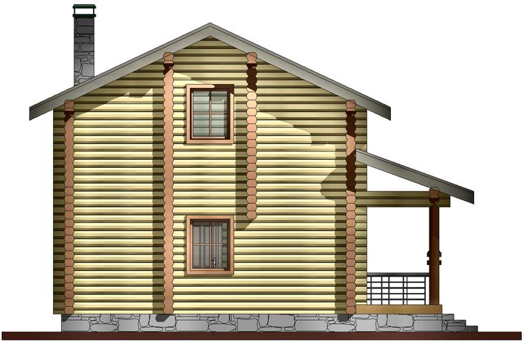 Проект бани со вторым жилым этажом