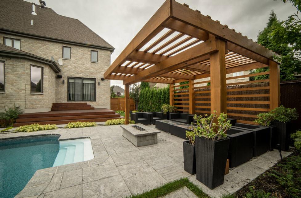 Под одной крышей: проекты бань, совмещённых с беседкой, домом и бассейном