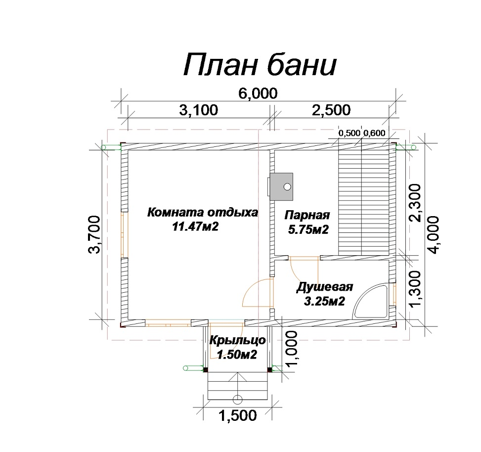 План бани: мойка и парилка раздельно, вместе, проекты планировки бань с разной площадью