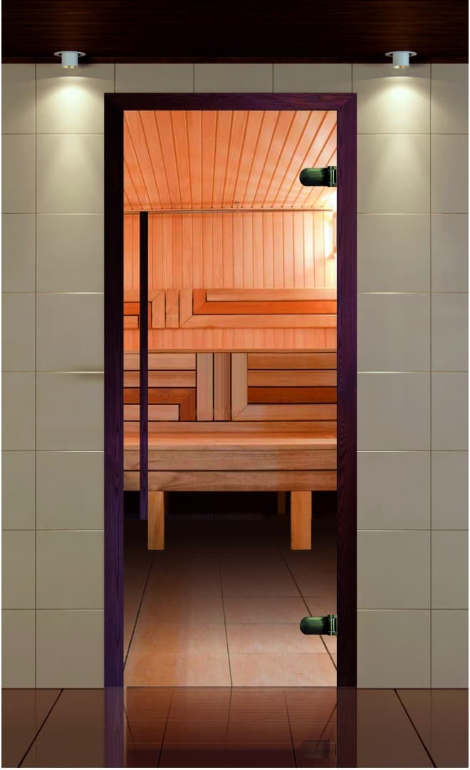 Стеклянные двери для сауны и бани: фото, размеры, плюсы и минусы, установка своими руками + видео