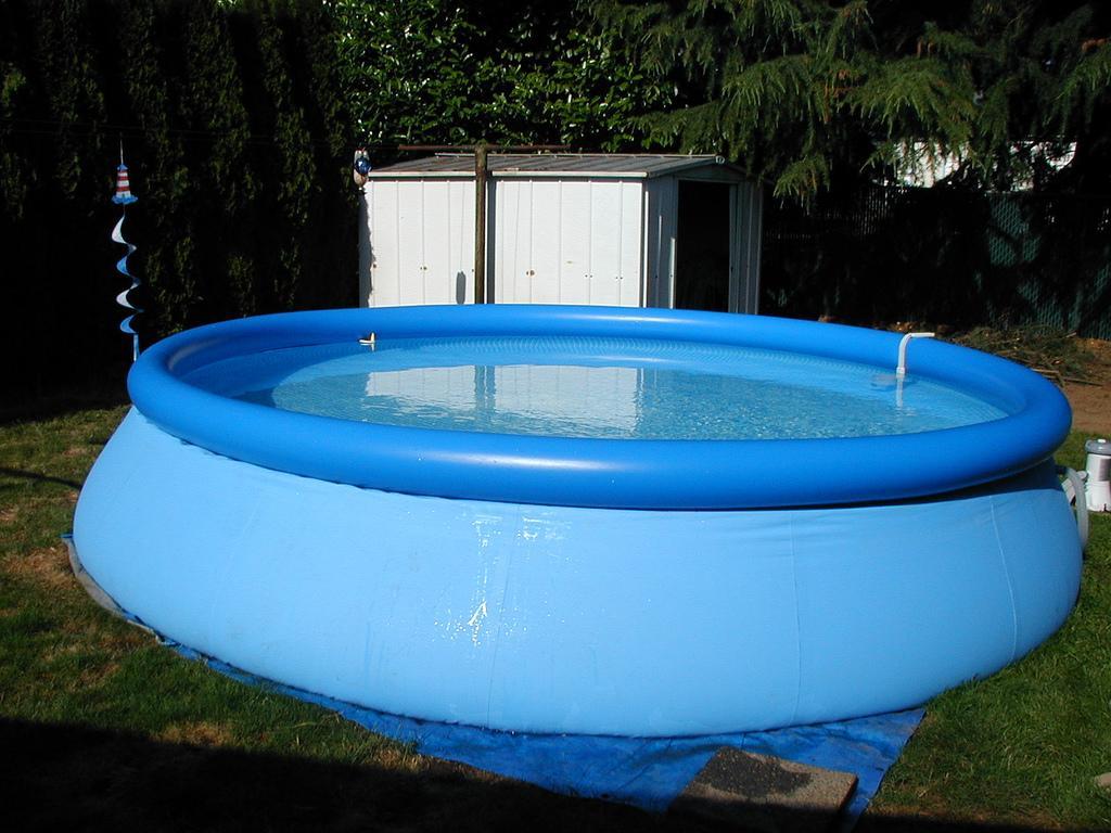 Недорогой бассейн для дачи, види и особенности - фото примеров