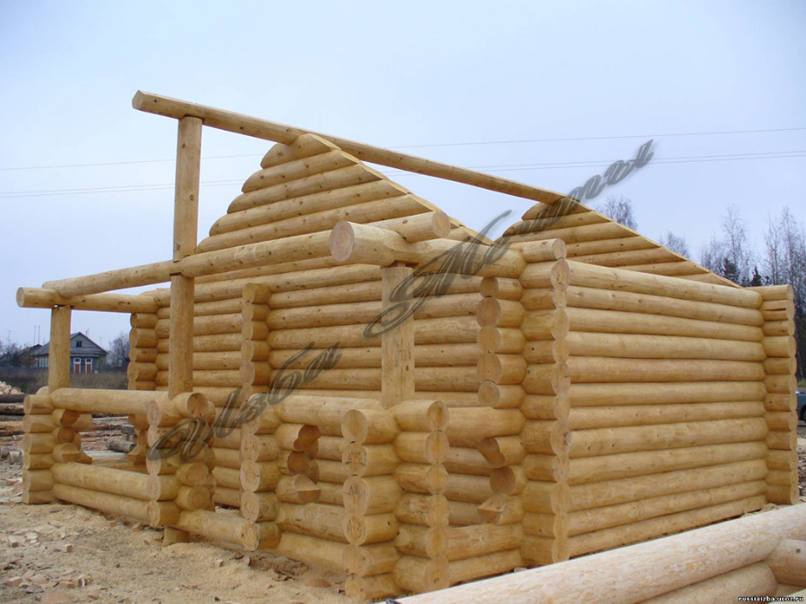 Проекты бань: деревянные, из сруба, из кругляка, рубленые