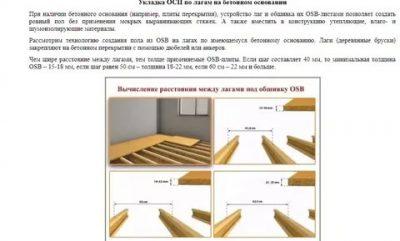 Технология укладки деревянного пола на лагах