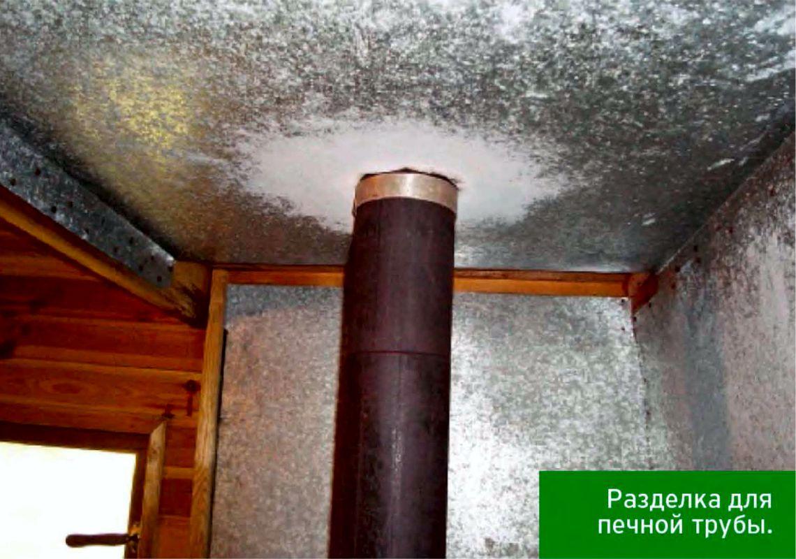 Установка трубы в бане через потолок и крышу: правила, этапы