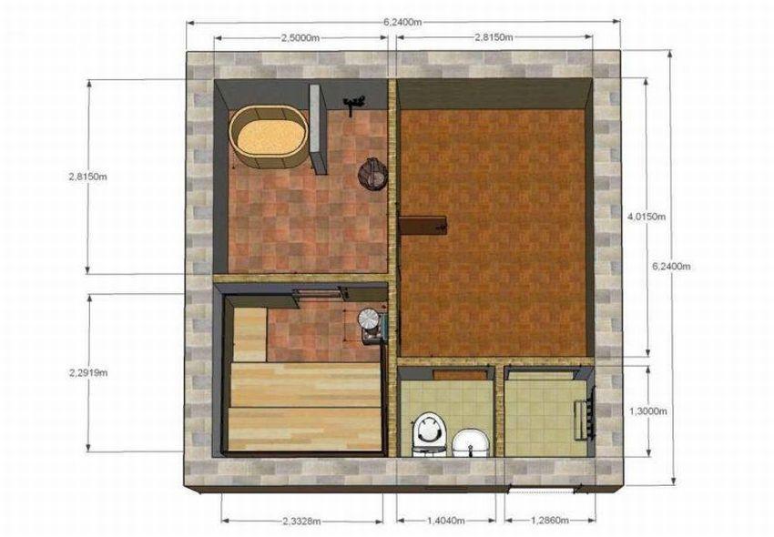 Проекты бань из пеноблоков (60 фото): как построить своими руками дом-баню площадью 6х4 с бассейном