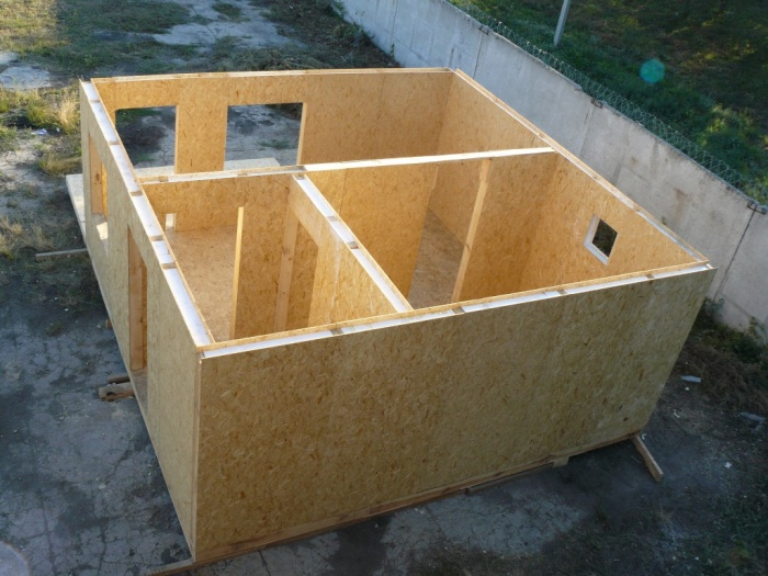 Дачная баня из sip панелей
