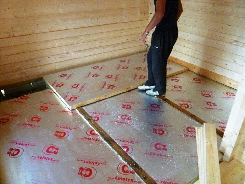 Утепление полов в бане: как утеплить своими руками, какой утеплитель лучше для заливных с прослойкой, бетонных, деревянных полов, как правильно уложить пенопласт
