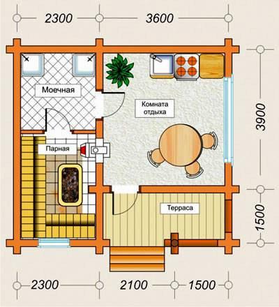 Баня площадью 3 на 4 - планировка внутри (57 фото): конструкций метражом 3х4 - мойка и парилка отдельно, план с раздевалкой и моечной