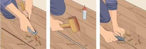 Ремонт деревянного пола: чем заделать щели в квартире, как заделывать досками, как отремонтировать и устранить скрип
