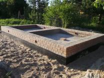 Столбчатый фундамент для бани – технология изготовления своими руками
