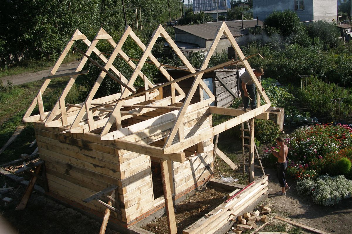 Как сделать крышу с мансардой для бани своими руками - пошаговая инструкция!