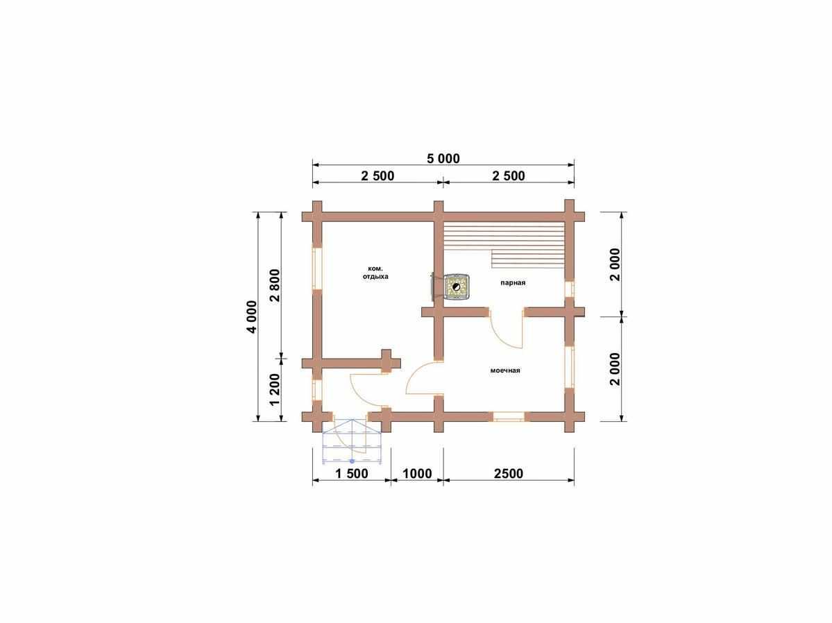 Двухэтажные бани из бревна под ключ: недорого и шикарно
