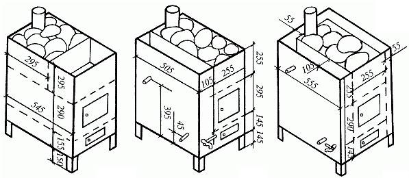 Расчет требований к параметрам для банной печи - домашний очаг