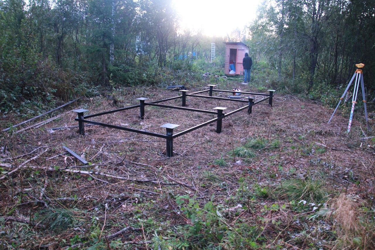 Баня на винтовых сваях – достоинства и процесс установки