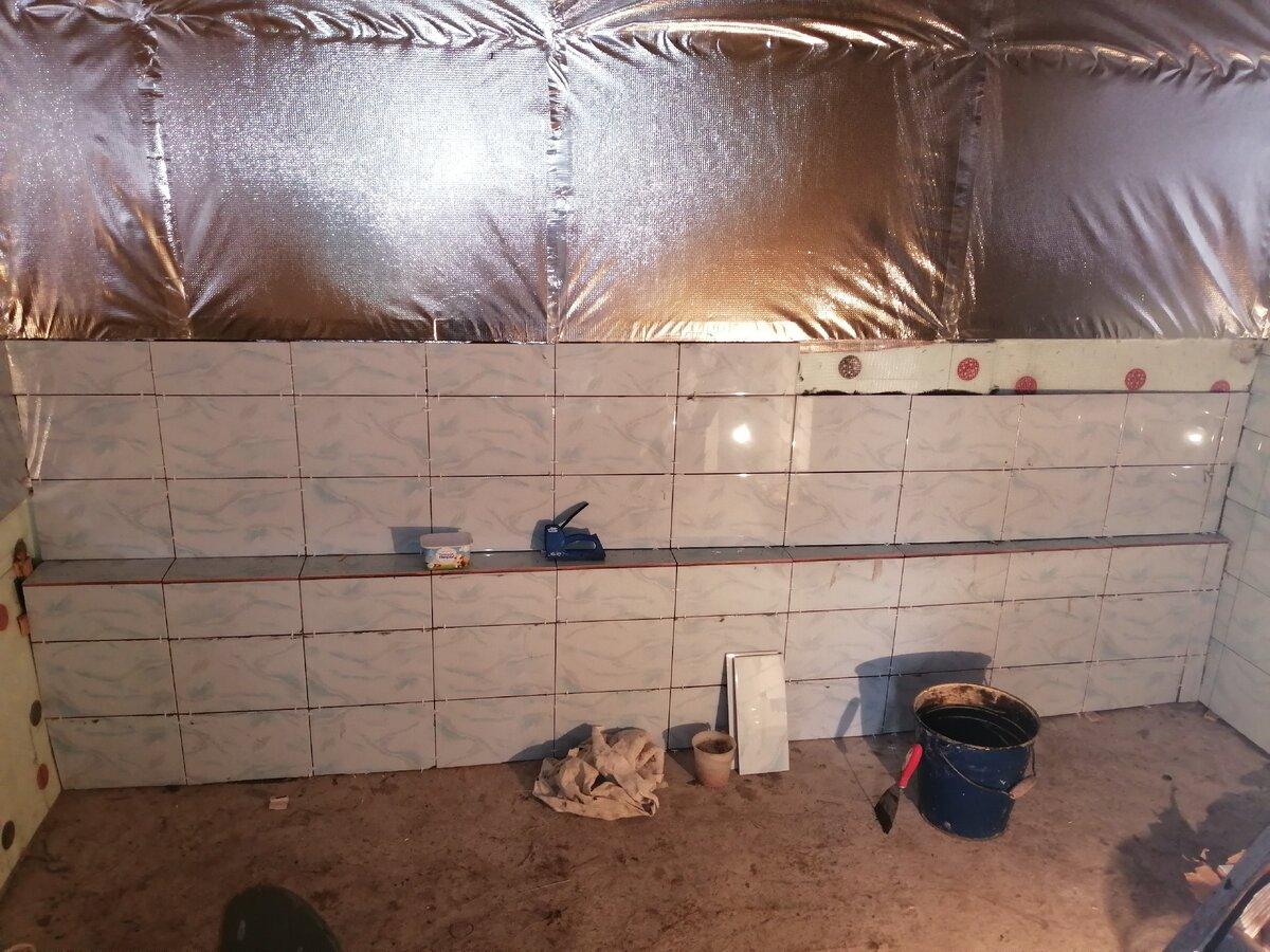 Пол в бане из плитки: подготовка основания и укладка плитки