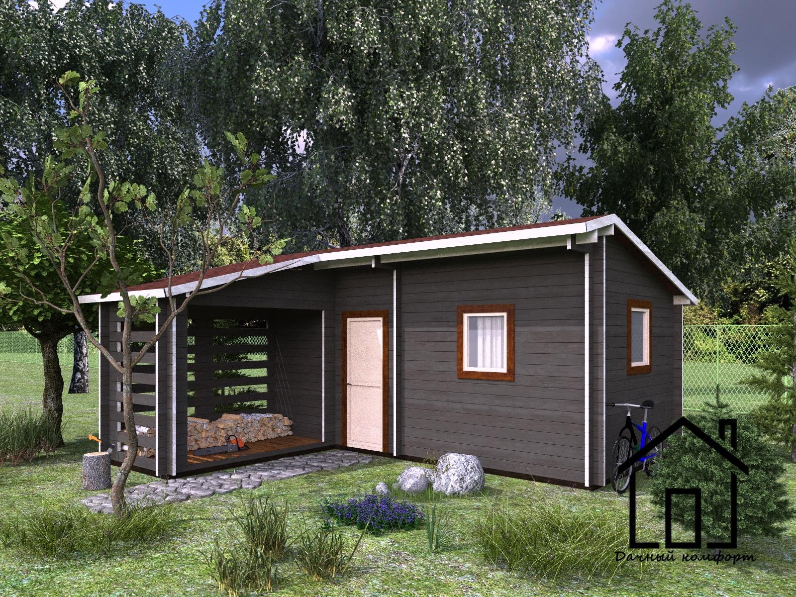 Баня с хозблоком: пристройка под утепленный душ, туалет,сарай и кухня - проекты под одной крышей