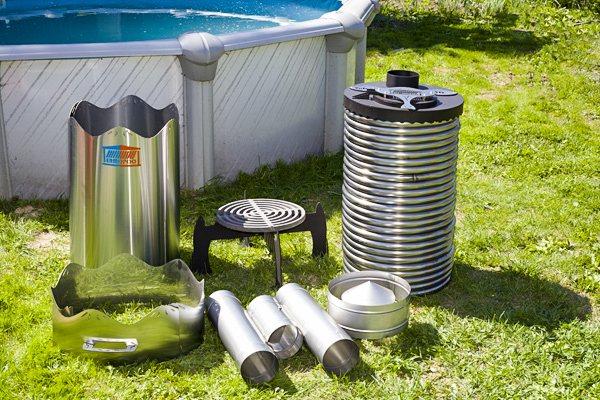 Дровяной водонагреватель для бассейна