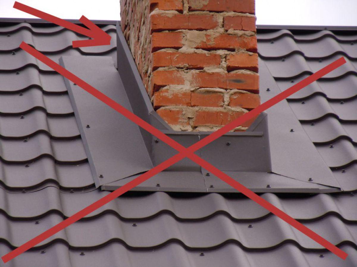 Дымоход через металлочерепицу – условия и правила устройства перехода