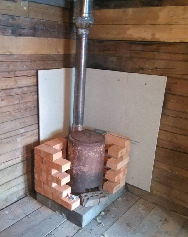 Печь для бани установка своими руками