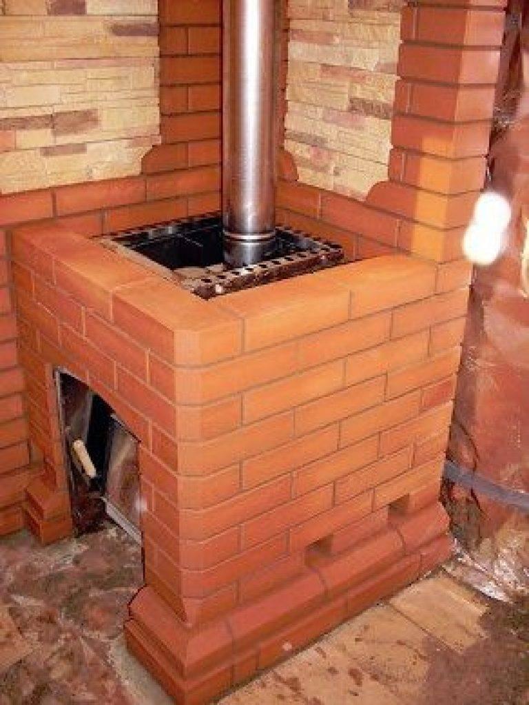 Как обложить металлическую печь в бане кирпичом: видео