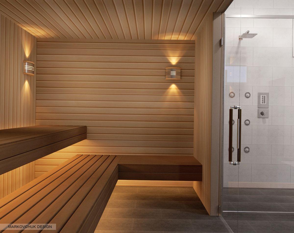 Освещение в бане - классические и необычные дизайнерские идеи