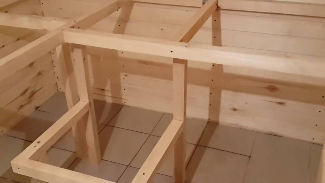 Как сделать мебель для бани и сауны своими руками