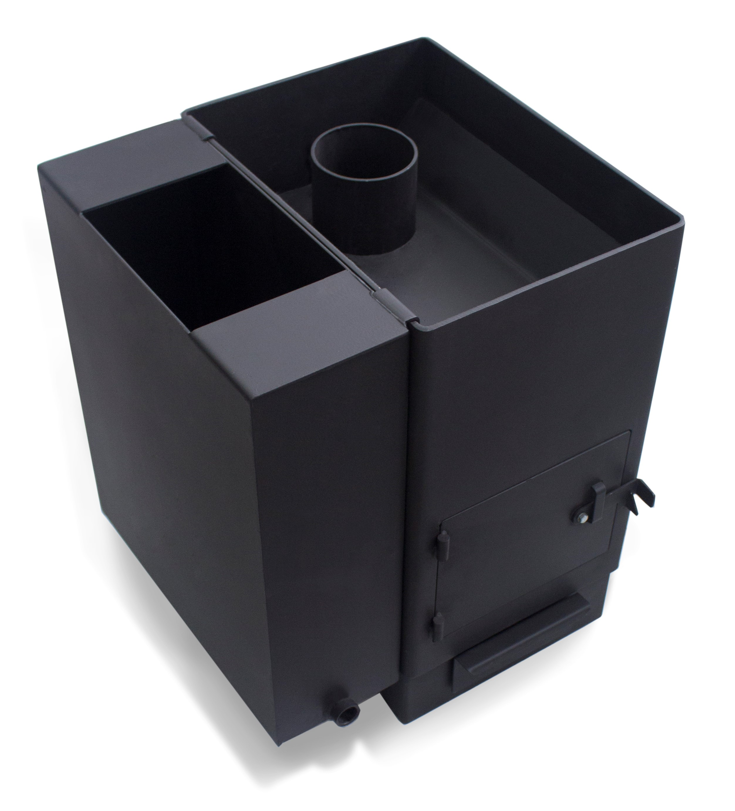 Печь для бани с теплообменником для воды - изготовление, расчет, монтаж!