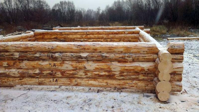 Строительство бани из бревна - фундамент и сруб своими руками