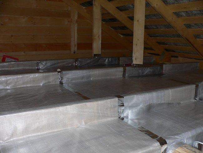 Как сделать утепление потолка в бане