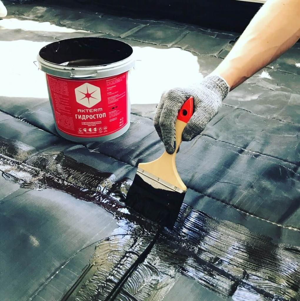 Битумная мастика для гидроизоляции бетона: выбор, способы применения, расход