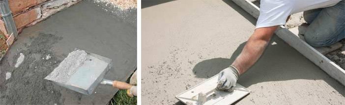 Железнение бетона, способы железнения бетона