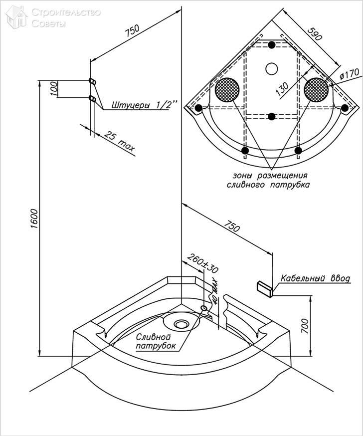 Установка кабины душевой: как собрать и подключить своими руками