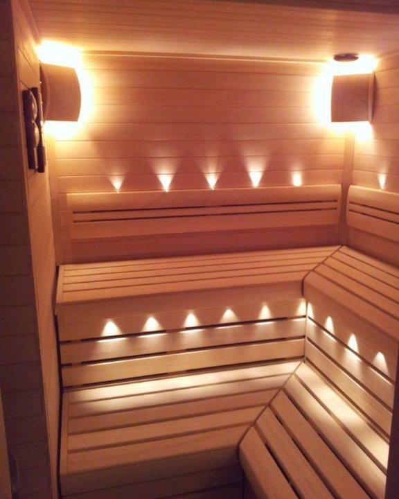 Монтаж освещения в бане