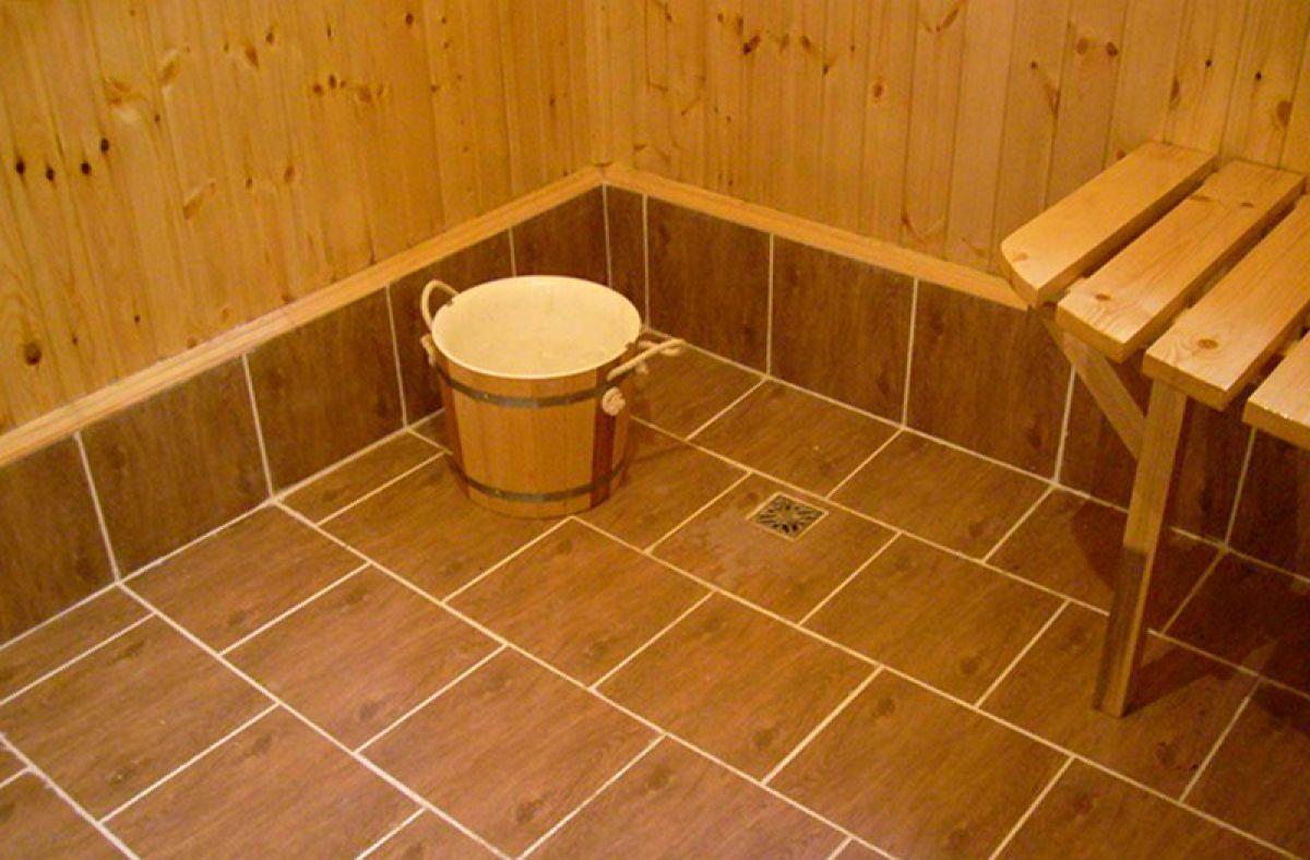 Керамическая плитка для бани: укладка на пол ⋆ прорабофф.рф
