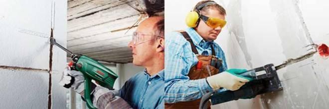 Как штробить стены под проводку правильно и без пыли