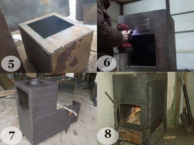 Печь из металла для бани: чертежи и советы по изготовлению