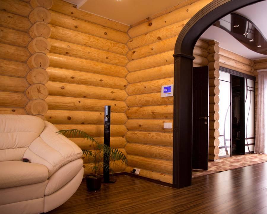 Блок-хаус внутри дома — фото готовых работ и выбор ламелей