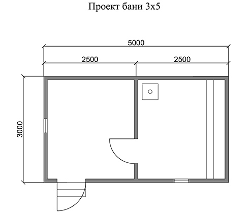 Строительство бани 5 на 3 метра: выбор проекта строительство бани 5 на 3 метра: выбор проекта