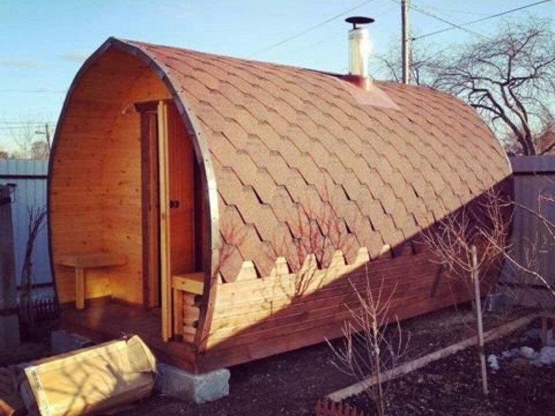 Утепленная баня бочка - строим баню или сауну